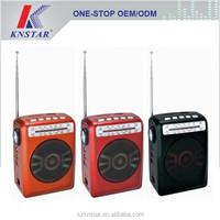 Mini speaker box with FM/AM radio receiver