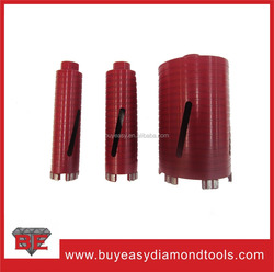 Professional Laser welded drill core bit with turbo segments