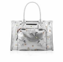 Fashion gold stars storage handbag for two-piece