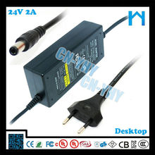 2015 for Led strip ul dc adapter 48w 24v 2a led adapter