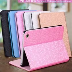 Diamond PU leather for ipad series smart case