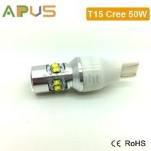 High quality XBD chip 50W 12V T15 921 W16W auto led bulb for car