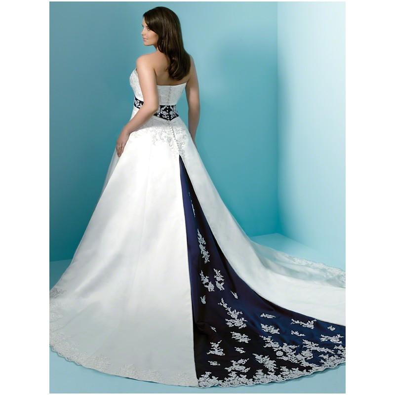 Blue Wedding Dress Colors : Plus size royal blue and white wedding dress buy
