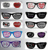 2014 new Custom imprinted sunglasses with lens logo sun glasses sticker