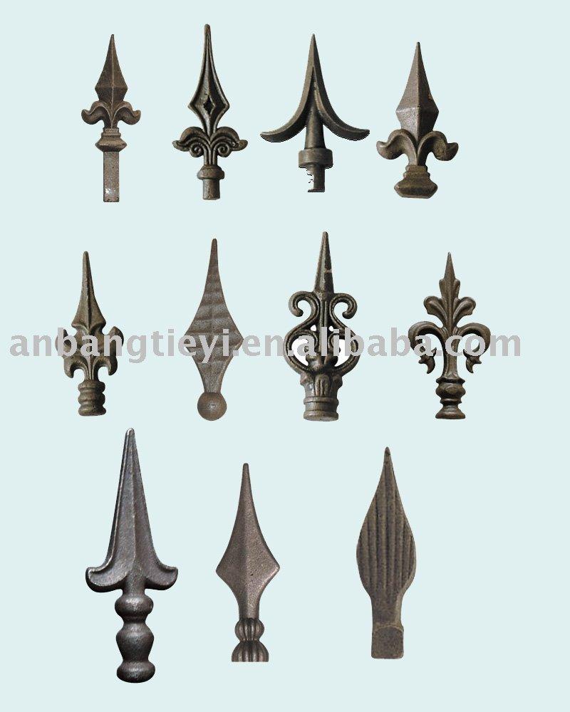 Fundido a presión de acero punta de lanza, Forjado de hierro punta de lanza