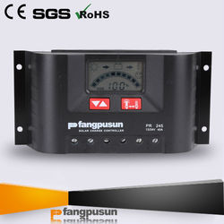 Fangpusun PWM 12V 24V solar charger controller LCD 45A solar battery charger