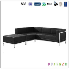 816-1# Heated 3 + 2 +1 leather lounge suite sofas
