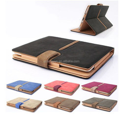 OEM manufacture for ipad air 2 ipad 6 pu leather case with belt and card solt