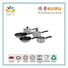 Professional 10pcs stainless steel cooking cookware/potobelo cookware/scanpan cookware