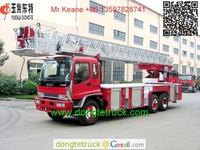 QILING 25m telescopic aerial ladder fire truck