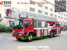 QILING 25m telescopic aerial ladder fire truck