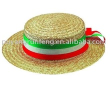 natural straw bucket hat school straw boaters hats