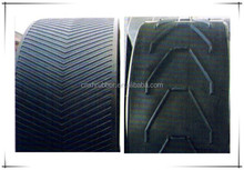 Rubber Chevron Conveyor Belt For Industry With diffrent Patterns