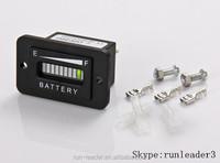 LED Digital State Battery Discharge Indicator for Golf Cart, Electric Vehicle,12V&24V,24V,36V,48V,72V