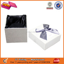 Fashion black paper watch box for gift
