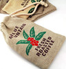factory price Environmental natural importer drawstring jute bag and small jute bag