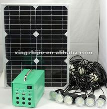 LED light DC solar power generator led lighting and mobile charging, manufacturer from China