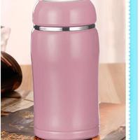 2015 fashioal warm color double wall stainless steel bottle
