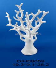 Ceramic tree statue for home decoration