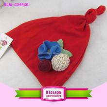 2015 red cute flower knitted baby crochet hats ,knit newborn Radish baby hats