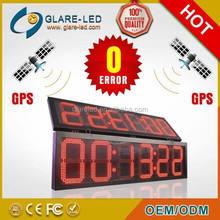 12 inch red color GPS LED Clock, Time & Temp Display,NO Error!!!