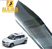 Hot-sale self-adhesive glued sun protection car window tint solar film with green, blue, black color