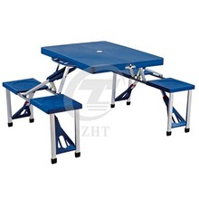 Fold Up Picnic Table & Seats Blue - Down to Briefcase