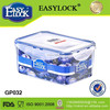 2014 new design rectangular airtight microwave containers with lock lid