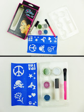 2015 new fan cheap glitter tattoo kit