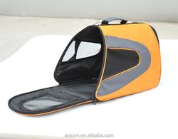 Pawhut Soft Sided Dog Travel Pet Carrier Shoulder Tote Bag - Orange