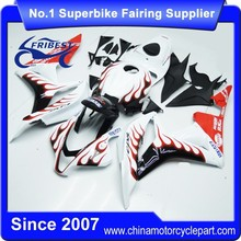 FFKHD009 Motorcycle Fairing Kit For CBR600RR 2007 2008 White And Red Flame