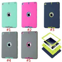 3 In 1 Hybrid Rubber Rugged ShockproofCover Case For iPad Air 2