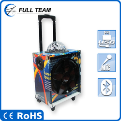top sale bluetooth mini new speaker 3.5mm line-in input FM radio 120W trolley sound boxes Shenzhen china alibaba
