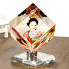 New Fashion Color Printing Photo Picture Crystal Cube Photo Frame For family And Lovers