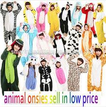 adult and kids onesie animal costume pajamas