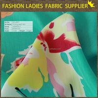 WORLD CUP hot sales 100% polyester print ladies' wear dress fabric four way stretch wool dobby cheap printed women chiffon shirt