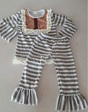 Persnickety Children 100 Cotton Stripe Bib Top Matching Ruffle Pants China Import Clothes For Europe Market
