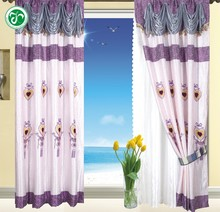 [ready made] Small wholesale HB-73 15 years top-rated golden seller newest 100% polyester jacquard finished curtain