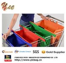 Foldable reusable shopping bag for trolley super market shopping cart bag