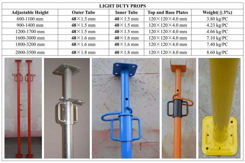 light duty props