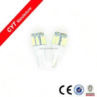 12V T10 2W 7040 10SMD White Led Car light warning lamp