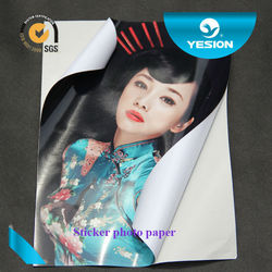 2015 Yesion 135g Top Selling Factory supply offer free sample sample size 4r self -adhesive photo paper