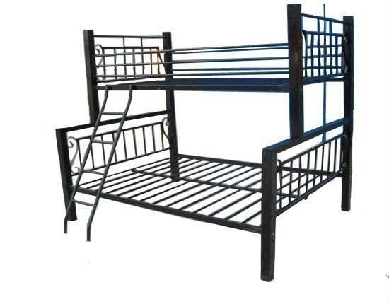 Muebles de dormitorio de tamaño completo de metal loftbed con ...