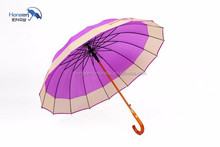16k Fashional style golf umbrella for promotion two-tier golf umbrella