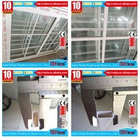 Film laminated With Ce ISO9001certificate plastic grill design pvc profile for windows and doors