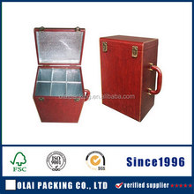 royal red leatherette wine case wholesale