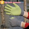 SRSAFETY 13 gauge latex rubber glove crinkle palm glove/safety gloves