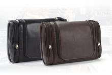 Genuine leather toilet travel kit bag mens wash bag promotional 2015