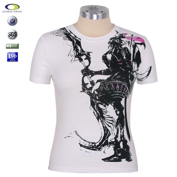 Wholesale Custom White Women T Shirt Printed From China