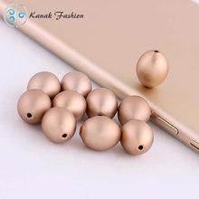 Eloxiert Aluminium matt Farbe Perlen 2015 neueste Art und Weise Oval Bead Masquerade Schmuck und Accessoires